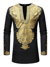 African Ethnic Style Dashiki Mid-Pattern Men's Suit