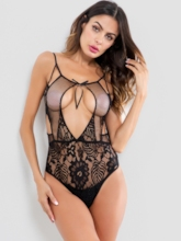 Backless Floral Lace Tight Wrap Teddy