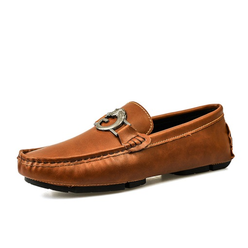 Plain Slip-On Low-Cut Upper Round Toe Men's Loafers