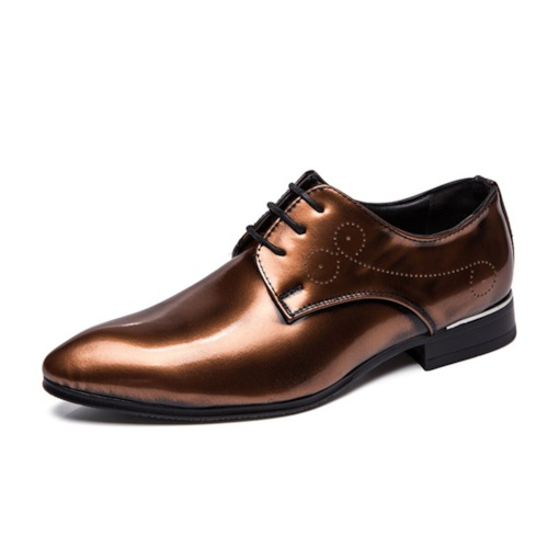 Metallic Low-Cut Upper PU Leather Men's Prom Shoes