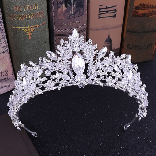 Korean Diamante Crown Wedding Tiara