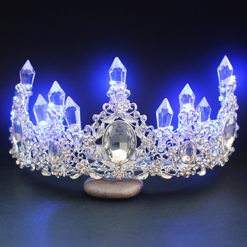 Shiny Crown Diamante Wedding Tiara