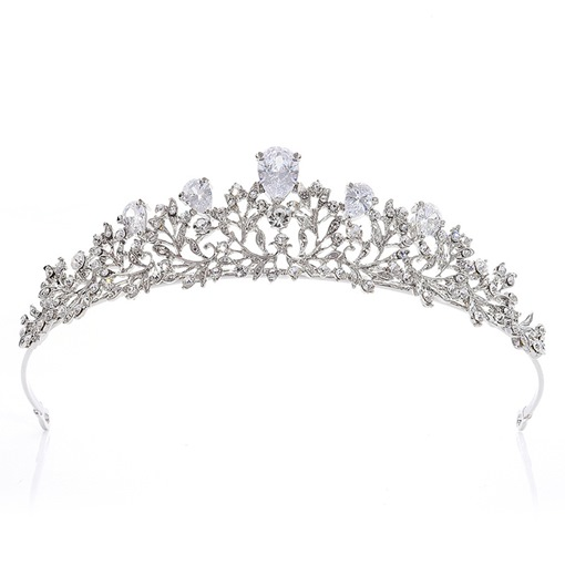 Diamante Hairband Leaf Wedding Tiara