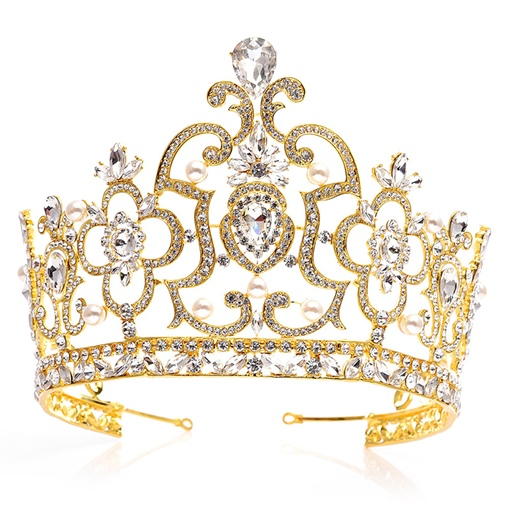 European Diamante Crown Wedding Tiara