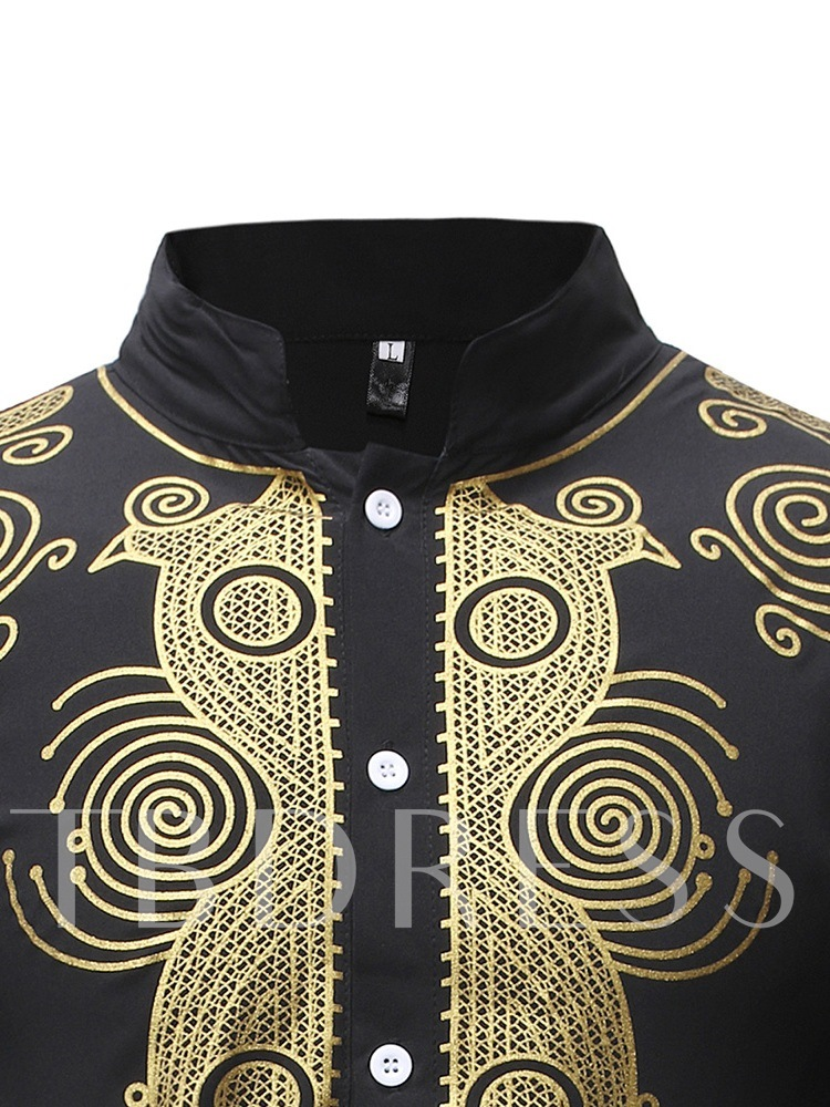 Dashiki Mid-Pattern African Ethnic Style Men's Suit