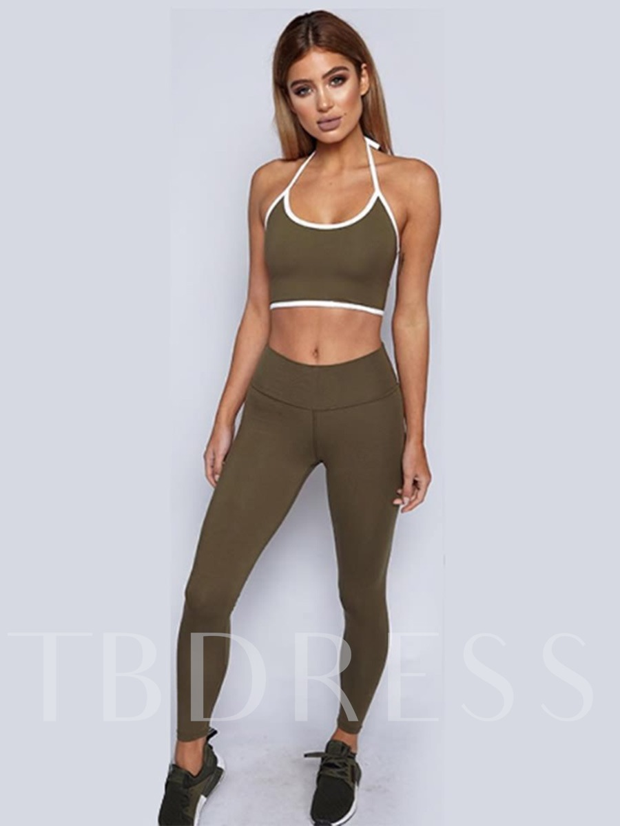 Sports Color Block Breathable Cotton Running Women' Set