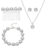 mousseux diamante 4 pcs ensemble de bijoux de bal