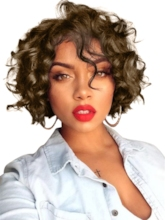 Curly Women Synthetic Hair 8 Inches Wigs