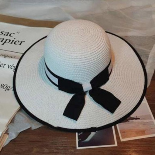 Handmade Plaited Article Beach Straw Hat