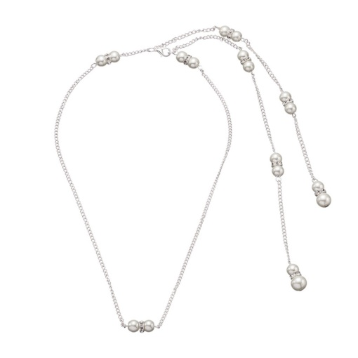 Handmade Pearl Decorated Back Chain for Bride