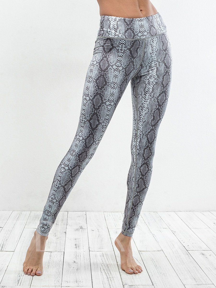 Serpentine Print Quick Dry Women's Leggings