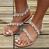 Slip-On Flat Heel Thong Western Women's Sandals