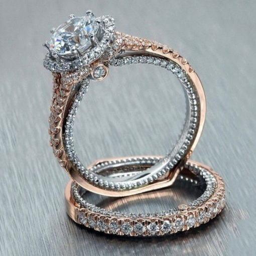 Sparkling Diamante Bronze Party Ring