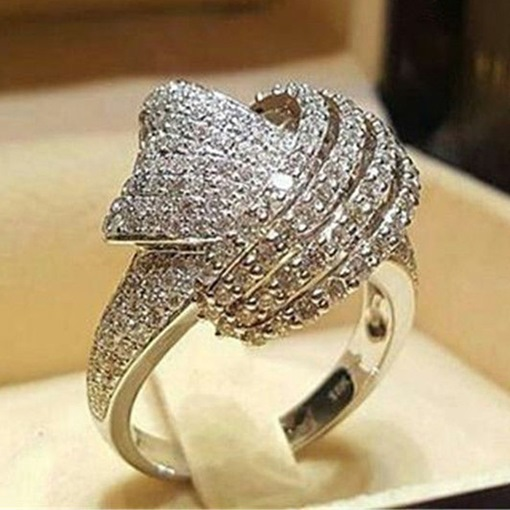 Hot Sale Imitation Diamante Bronze Prom Ring
