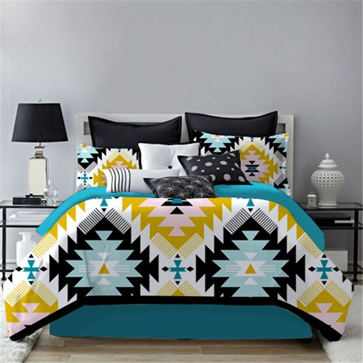 Blue Folk Style Polyester 4-Piece Bedding Sets/Duvet Cover