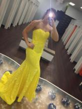 Sweetheart Trumpet Sleeveless Sweep Train Prom Dress