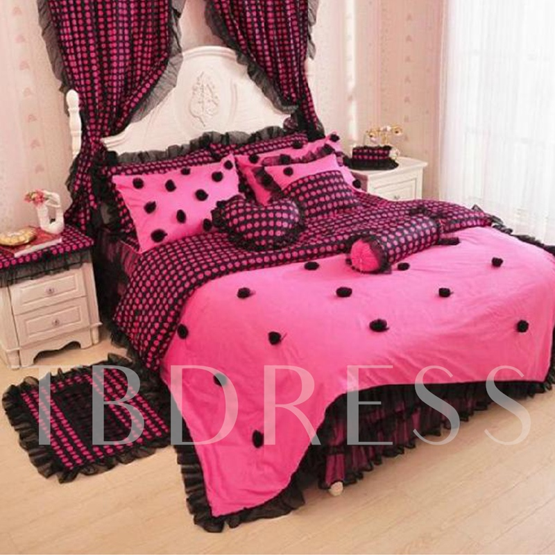Princess Style Rose Lace 4 Piece Bedding Sets/Duvet Cover Sets