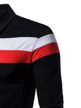 Casual Color Block Patchwork Men's Polo Shirt