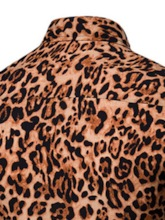 Print Leopard Lapel Casual Men's Shirt