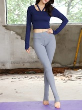 Quick Dry Thumbholes Pullover Sports Set for Women