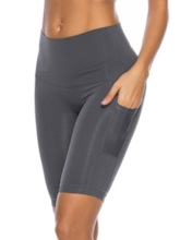 Pocket Breathable Women's Sports Shorts