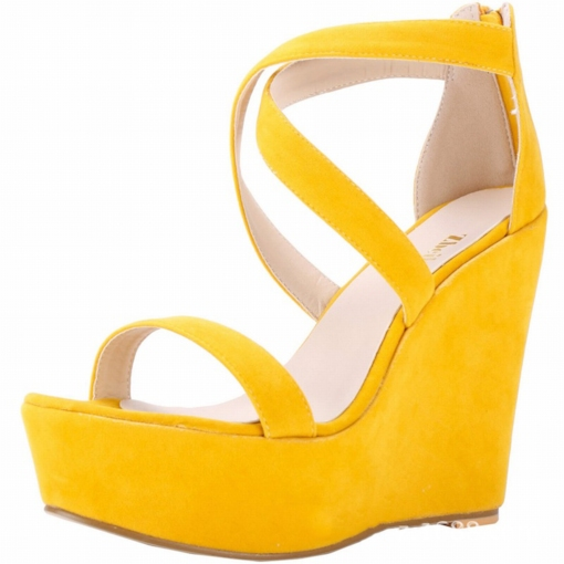 Wedge Heel Heel Covering Zipper Open Toe Platform Sandals