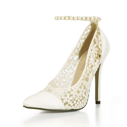 Pointed Toe Stiletto Heel Line-Style Buckle Wedding Shoes