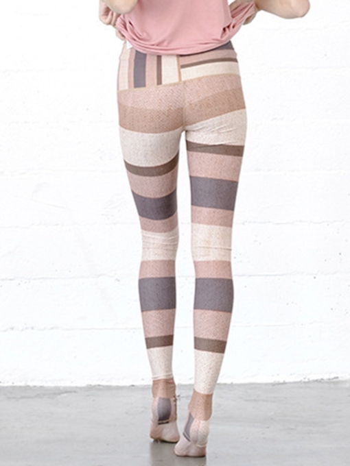 Multicolor Stripes Breathable Sports Leggings
