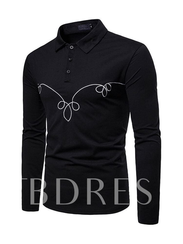 Polo Neck Embroidery Casual Men's Polo Shirt