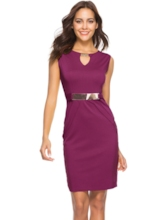 Hollow Sleeveless Patchwork Zipper Women's Sheath Dress