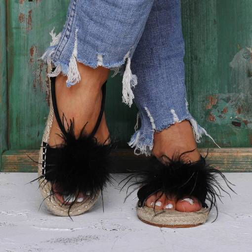 Open Toe Flat Espadrille Buckle Western Sandals