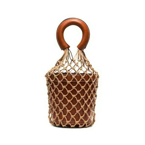 Plain Thread PU Barrel-Shaped String Bags