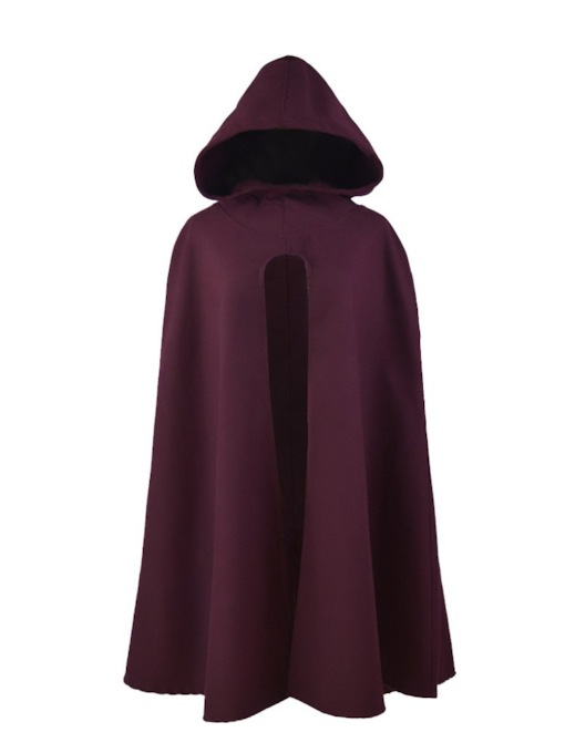 Plain Winter Hooded Women's Cape