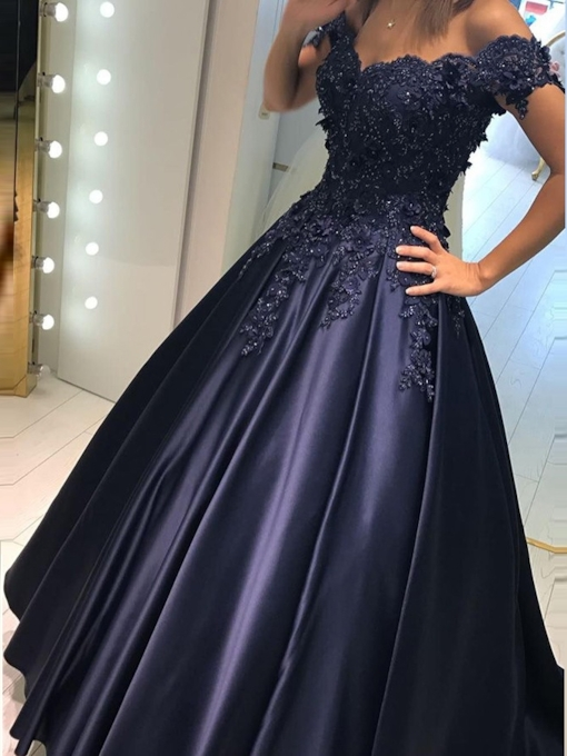 Appliques Floor-Length Sleeveless A-Line Evening Dress 2019