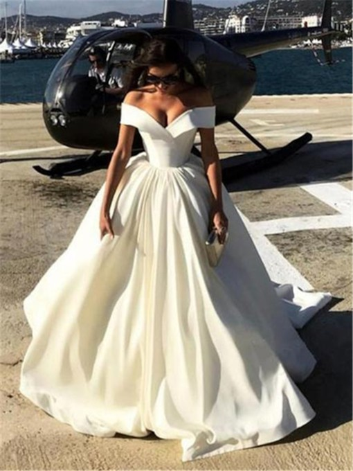 Ball Gown Off-The-Shoulder Wedding Dress 2019