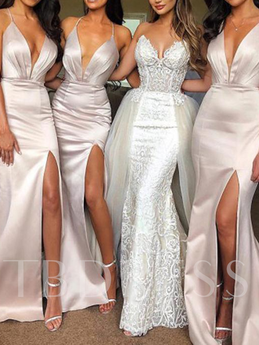 Halter Split-Front Mermaid Bridesmaid Dress 2019