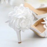 Buckle Stiletto Heel Lace Pointed Toe High Heel Wedding Shoes