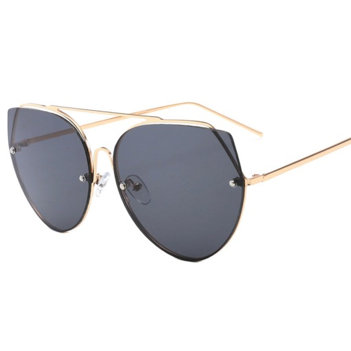 Vintage Rimless Poly Carbonate Metal Anti UV Sunglasses