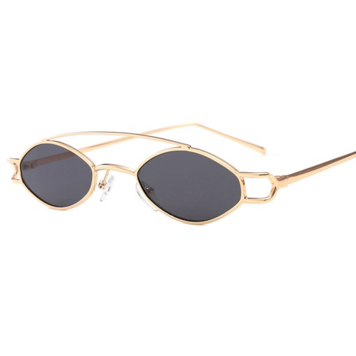 Poly Carbonate Metal Frame Oval Sunglasses