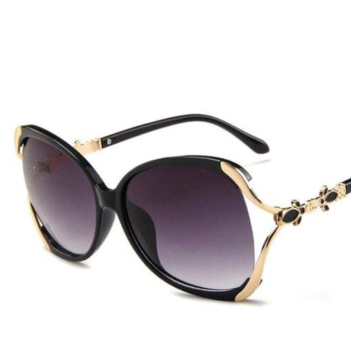 Cat Eye Shape Metal Frame Anti UV Oval Sunglasses