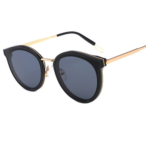 Cat Eye Shape Poly Carbonate Oval Sunglasses