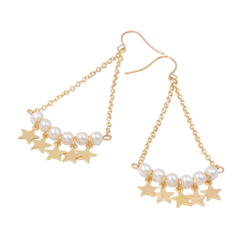 Fan Shape E-Plating Alloy Party Earrings