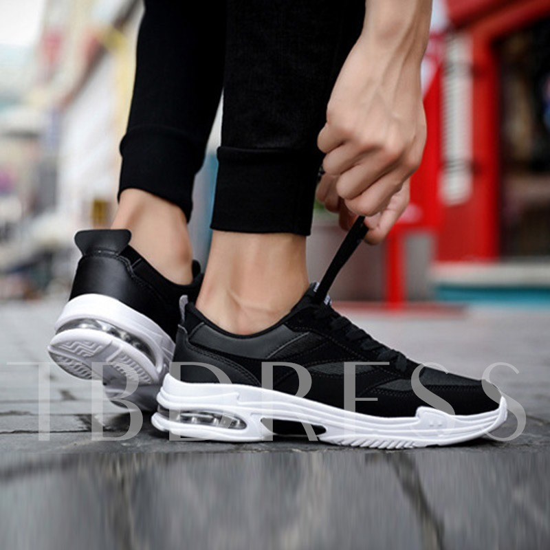 Mesh Lace-Up Flat With Sports Round Toe Men's Sneakers