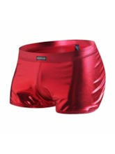 Patent Leather Low Waist Men's Boxer Briefs
