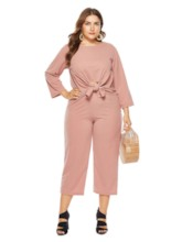 Casual Shirt Plain Straight Women's Two Piece Sets