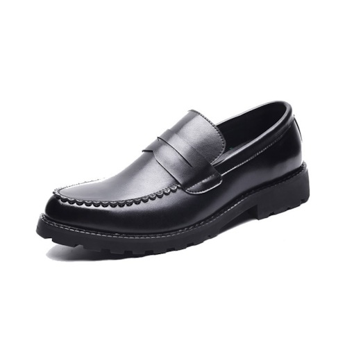 Plain Low-Cut Upper Pointed Toe PU Leather Men's Business Shoes