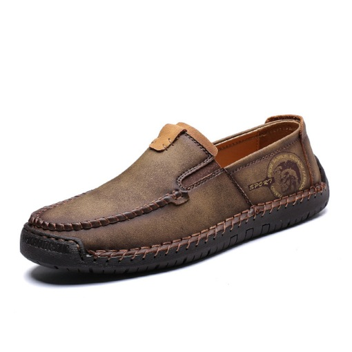 Flat Heel Low-Cut Upper Plain Slip-On Round Toe Men's Loafers