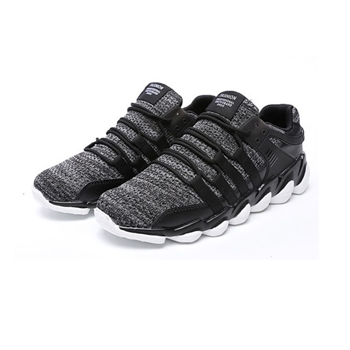 Mesh Lace-Up Round Toe Men's Sneakers