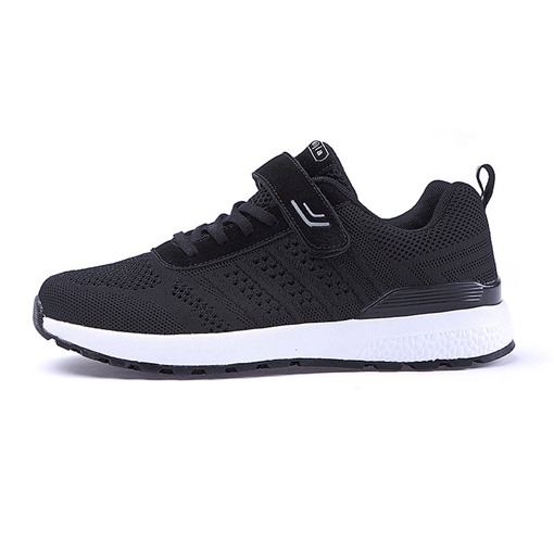 Velcro Mesh Low-Cut Upper Round Toe Men's Sneakers