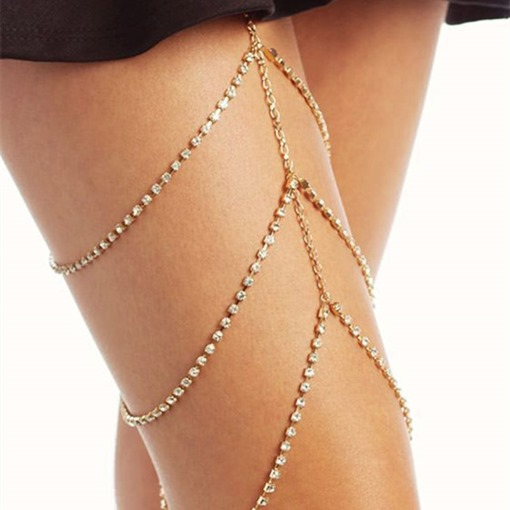 Sexy Multi-Layer Diamante Anklets